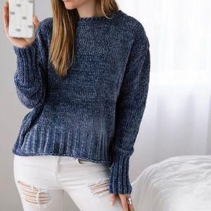 [11thstreet] Blue Chenille Sweater